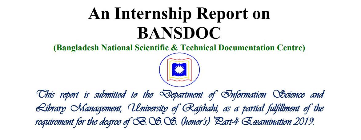An Internship Report on BANSDOC