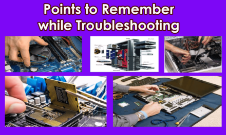 Remember While Troubleshooting