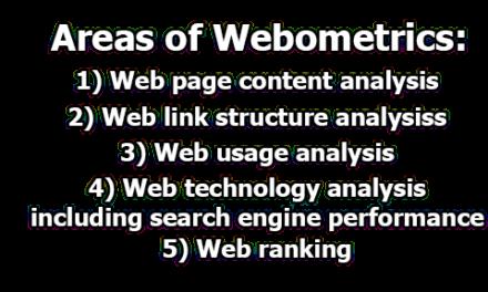 Webometrics   objectives, importance, Scope, and Areas of Webometrics