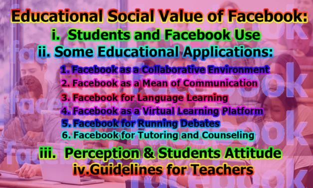 Educational Social Value of Facebook