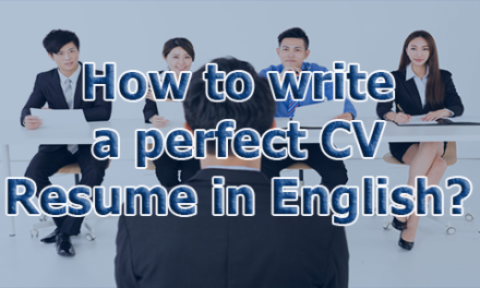 How to write a perfect CV / Resume in English?