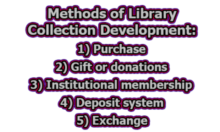 Methods of Library Collection Development | Collection Development Policy