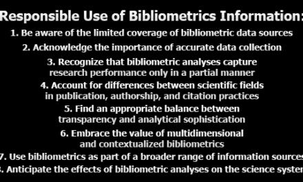Responsible Use of Bibliometrics Information