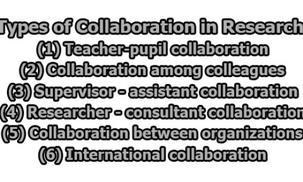 Types of Collaboration in Research