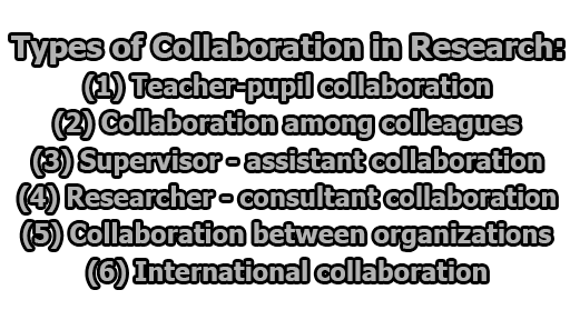 Types of Collaboration in Research - Types of Collaboration in Research